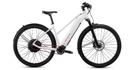 MTB Cycletech Code Lady wit (met rode accenten)