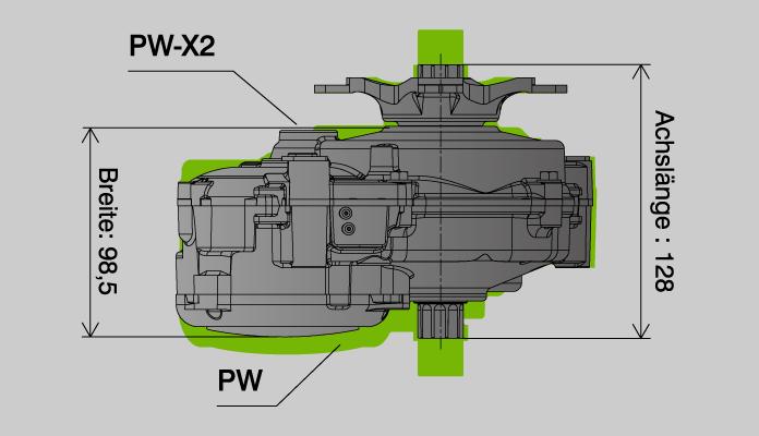 Yamaha PW-X2 compacte motor